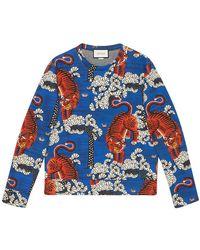 Gucci - Bengal Print Sweatshirt - Lyst