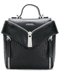 DIESEL - Zip Detail Mini Backpack - Lyst