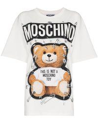Moschino - Camiseta con logo y estampado de osito - Lyst