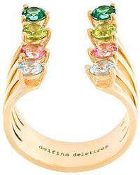 Delfina Delettrez 8 Dots pink sapphires ring - Metallic pgCTAeOSr