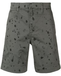 John Varvatos - Splash Print Shorts - Lyst