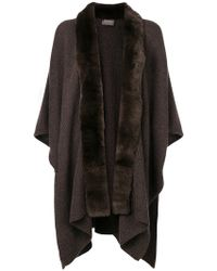 N.Peal Cashmere - Ribbed Fur Shawl - Lyst