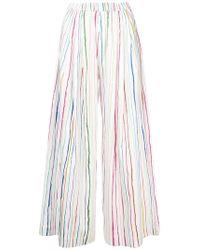Mira Mikati - Striped Wide-leg Trousers - Lyst