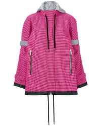 Palm Angels - Cappotto A Scacchi - Lyst