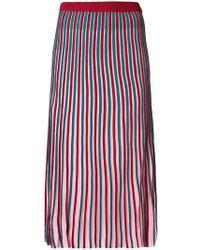 KENZO - Falda de punto a rayas - Lyst
