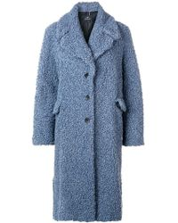 PS by Paul Smith - Long Single-breasted Coat - Lyst