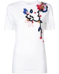 Prabal Gurung - Camiseta con bordado floral - Lyst