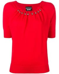 Boutique Moschino - Draped Neck Jumper - Lyst