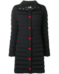 Love Moschino - Quilted Padded Coat - Lyst