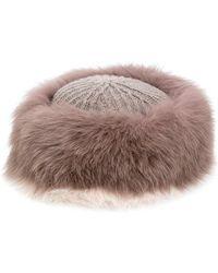 Agnona - Furry Hat - Lyst