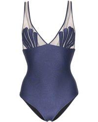 Adriana Degreas Marine Shell Mesh Swimsuit