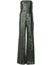 Alexis - Sequined Strapless Jumpsuit - Lyst