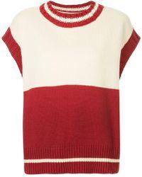 ADER error - Contrasting Knitted Vest - Lyst