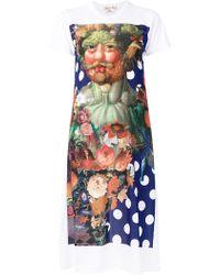 Comme des Garçons - Printed T-shirt Dress - Lyst