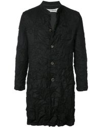 Individual Sentiments - Crease Effect Coat - Lyst