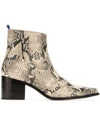 Blue Bird Shoes Bota Country Python - Multicolour