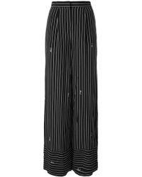 striped wide-leg trousers - Black Karl Lagerfeld KVxjpNo9