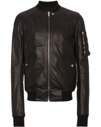 Rick Owens - Raglan Leather Bomber Jacket - Lyst