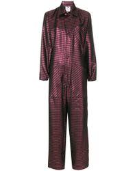 Ultrachic - Striped Jumpsuit - Lyst