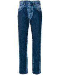 Maison Margiela | High-waist Contrast Jeans | Lyst