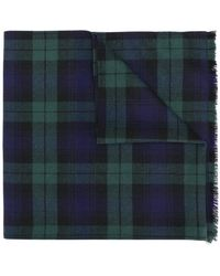 Ermanno Scervino - Plaid Knit Scarf - Lyst