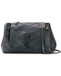 91299d4e3dc6c Saint Laurent Large Soft Envelope Shoulder Bag in Green - Lyst