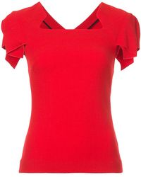 Roland Mouret - Folded Sleeves Blouse - Lyst