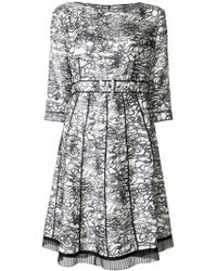 bf814d47efb5 Marc Jacobs - Patterned Pleated Dress - Lyst