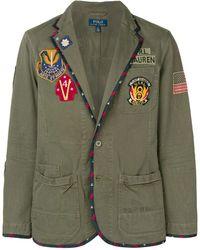 Polo Ralph Lauren Veste à patchs bordés - Vert
