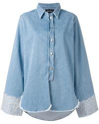 Andrea Ya'aqov - Oversized Denim Shirt - Lyst