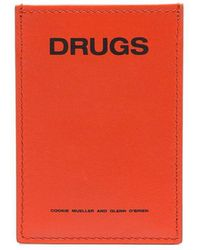 Raf Simons - 'drugs' Calfskin Cardholder - Lyst