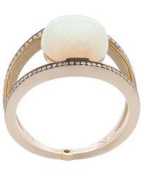 Noor Fares - Opal Rhombus Ring - Lyst