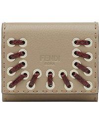 Fendi - Embellished Selleria Card Holder - Lyst