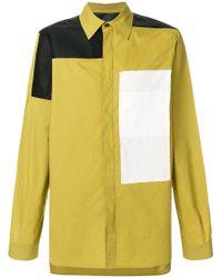 Rick Owens - Panelled Colour Block Shirt - Lyst