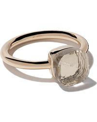 Pomellato - 18kt Rose & White Gold Small Nudo White Topaz Ring - Lyst
