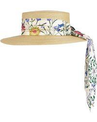 dad57f0769c Lyst - Gucci Women s Alba Lurex Papier Hat In Gold in Metallic