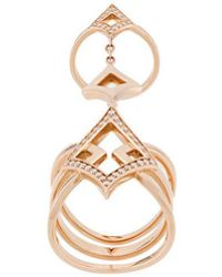 Anapsara - 18kt Rose Gold Oneness Diamond Ring - Lyst