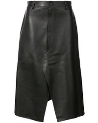 Dion Lee - Shadow Stitch Leather Skirt - Lyst