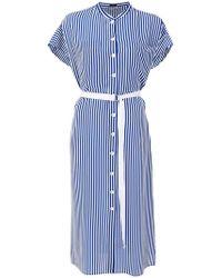 JOSEPH - Striped Buttoned Dress - Lyst