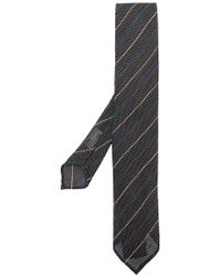 Lardini - Stripe Embroidered Tie - Lyst