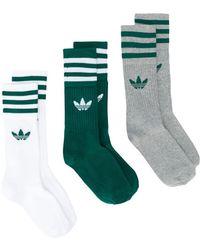 e3b07d24a852e adidas - Lot de trois paires de chaussettes à logo - Lyst