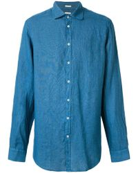 Massimo Alba - Round Collar Canary Shirt - Lyst