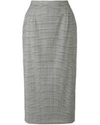 Tonello - Tartan Fitted Skirt - Lyst