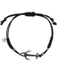 Pippo Perez - 18kt White Gold Anchor And Diamond Bracelet - Lyst