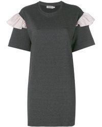 Anna K - Frill Sleeve T-shirt Dress - Lyst