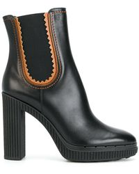 Tod's - Ridged Platform Ankle Boots - Lyst