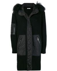P.A.R.O.S.H. - Fur Hood Panelled Coat - Lyst