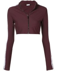Paco Rabanne - Logo Side Stripe Cropped Track Top - Lyst