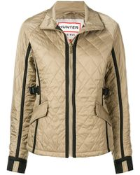 HUNTER - Quilted Zipped Jacket - Lyst