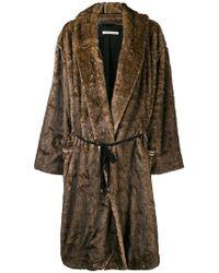 Mes Demoiselles - Furry Oversized Coat - Lyst
